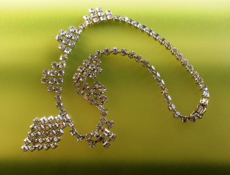 Austrian rhinestones  Pat signed Pend Dazzling Vintage 1950s Necklace and Earrings set- Art.255