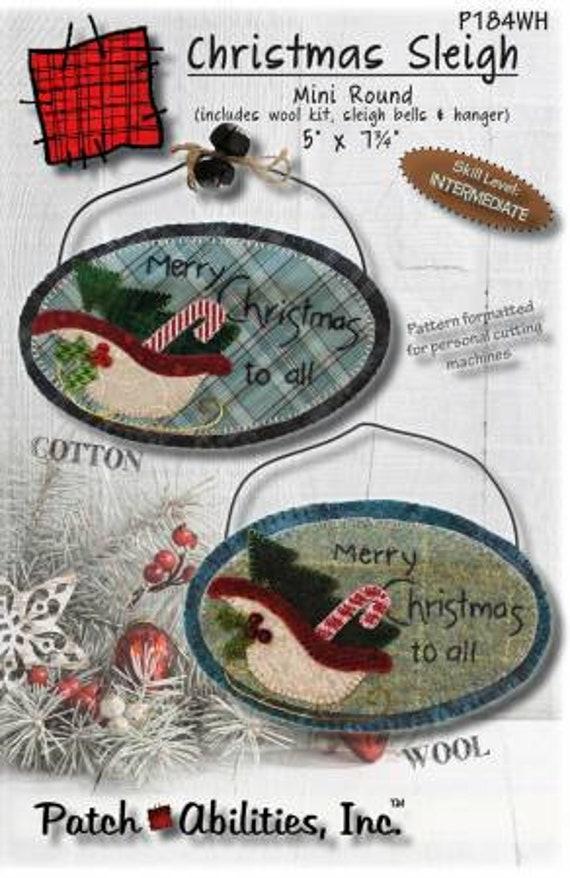 Ornement de laine, Kit, décoration de Noel, traineau du du traineau père Noël 483c7b