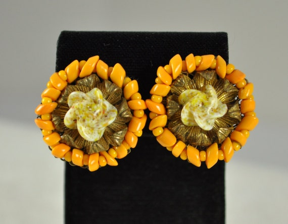 Vintage Signed MIRIAM HASKELL Orange and Russian G