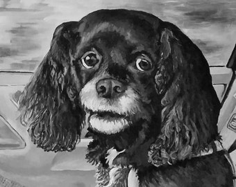 16 x 20 Custom Black and White Acrylic Portrait