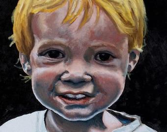16 x 20 Custom Portrait in Oil Paint