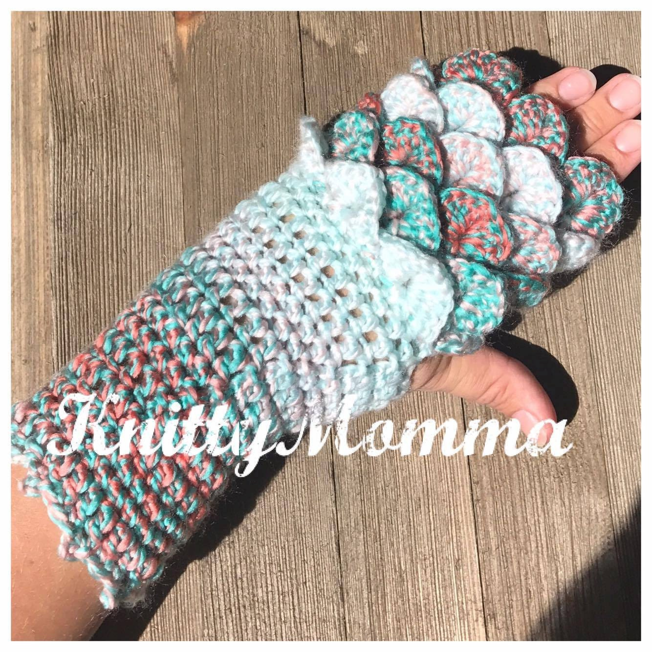 Dragon Scale Gloves Pattern Fingerless Gloves Dragon Etsy