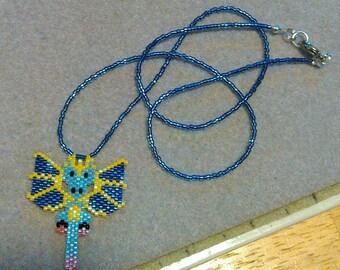 Purple Dragon Beaded Necklace