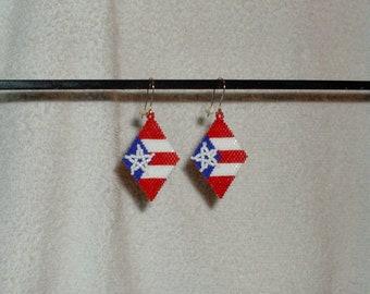 Puerto Rico Beaded Earrings