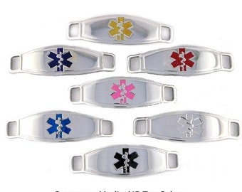 Medical Alert Tag - Medical Bracelet Charms - Stainless Steel Medical ID Tags - Personalized Medical ID - Contempo Medical ID Tag