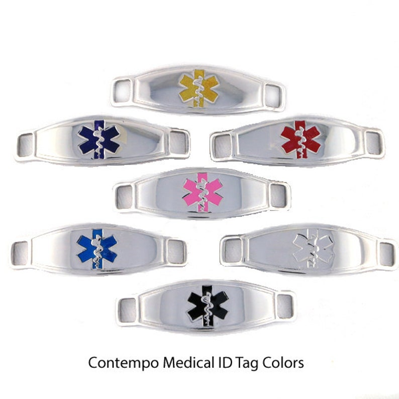 Medical ID Bracelet Allergy Bracelet Diabetes Bracelet Medic Alert Bracelet Lymphedema Bracelet Chain Bracelet Medic Alert -Trip