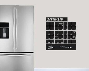 Exceptionnel Chalkboard Calendar// Chalkboard // Office // Kids Room // Classroom //  Organizing // Wall Decor // Wall Sticker // Vinyl Decal
