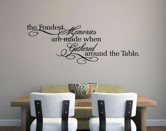 The Fondest Memories Wall Decal Kitchen Stickers Dining Art Quotes For