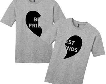 Best Friends Heart T-Shirt Set