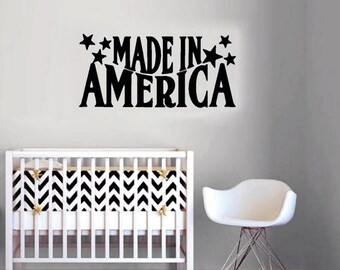 Made In America - Patriotic Wall Decals