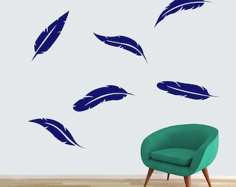 Feathers - Shapes Wall Decals