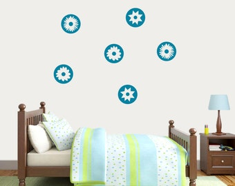 Circle Flowers - Flowers and Shapes Wall Decals
