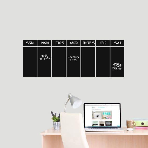Diese Woche Tafel Kalender - Tafel Büro und Küche Wand Abziehbilder