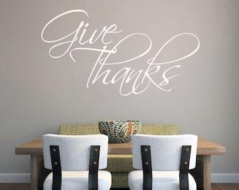 Give Thanks - Seasonal Wall Decals