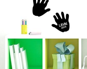Custom Hand Print - Personalized Custom Nursery and Kid's Room Wall Decals