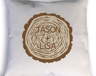 Custom Pillow | Custom Carved Tree Trunk Pillow | Personalized gift | Throw Pillow