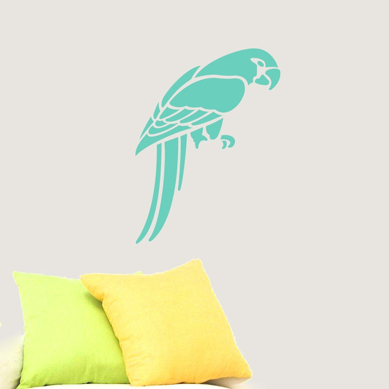 Nursery and Kid/'s Room Animals Wall Decals Parrot