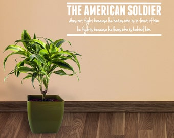 The American Soldier - Patriotic Wall Decals
