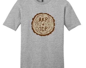 Custom Carved Tree Trunk - Personalized T-Shirt