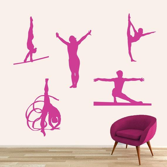 Fine Gymnastics Wall Decal Set Sports Dance Gymnast Kids Teen Room Classroom Studio Removeable Wall Art Vinyl Wall Sticker Decal Ncnpc Chair Design For Home Ncnpcorg