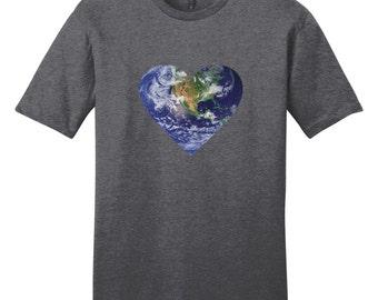 Planet Earth Heart T-Shirt