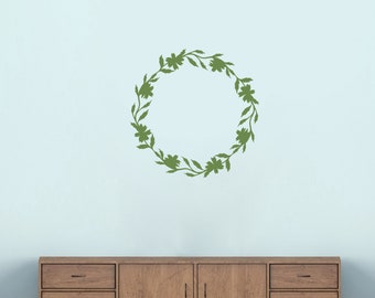 Flower Wreath - Flowers and Shapes Wall Decals