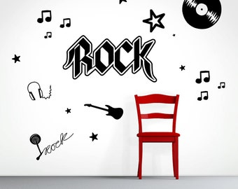Rock Set - Music Shapes Wall Decals