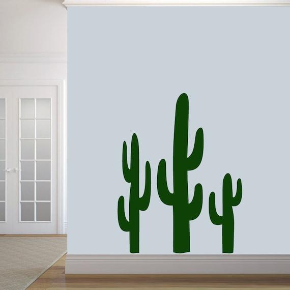 Desert Landscape Cactus Sun Wall Sticker Vinyl Decal Mural Art Decor EH1279