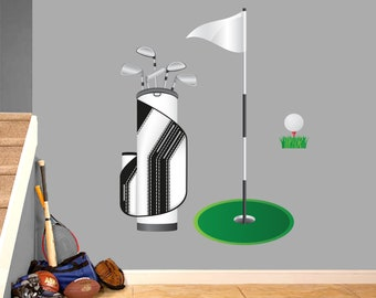 Golf Set - Printed Sports Wall Decals
