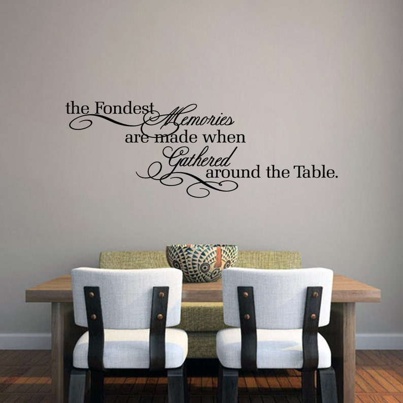 The Fondest Memories Wall Decal Kitchen Dining Room