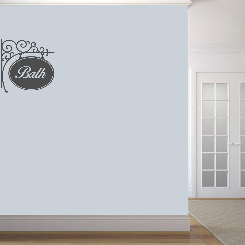 sticker mural bain signe salle de bain baignoire et douche etsy. Black Bedroom Furniture Sets. Home Design Ideas
