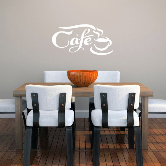 Cafe Wall Decal, Kitchen Coffee Wall Decal, Cafe Wall Decor Stickers,  Kitchen Wall Art, DIY Kitchen Sign