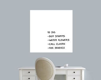 Dry Erase Square - Dry Erase Office Kids Room Kitchen Wall Decals