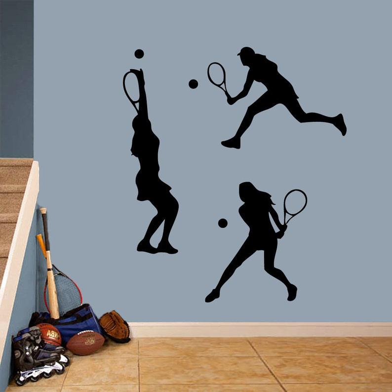 Tennis Girls Set Sports Wall Decals