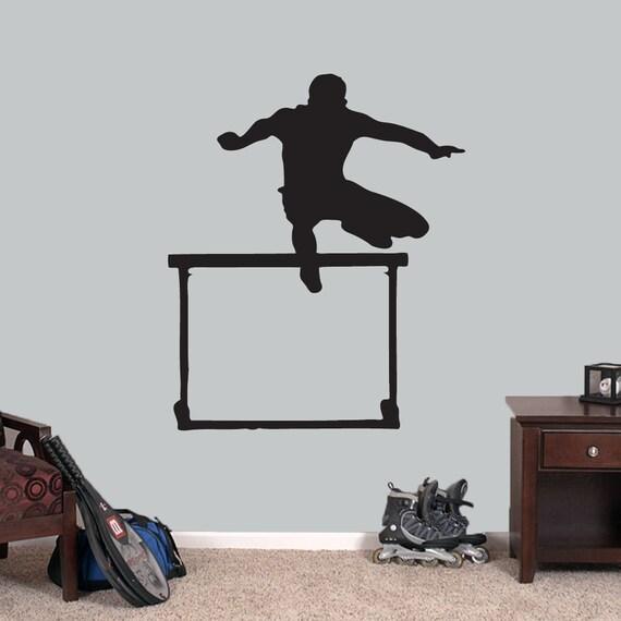 Hürdenläufer Wandtattoo Sport Laufen Jumper Kinder Etsy