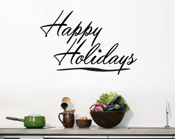 Happy Holidays - Seasonal Christmas Wall Decals