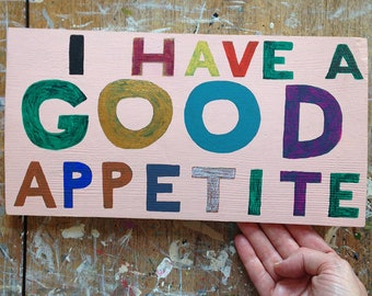 Original painting - I have a good appetite