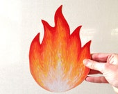 A little hand painted flame for your wall