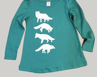Arctic Fox Girls Long Sleeved Shirt Teal