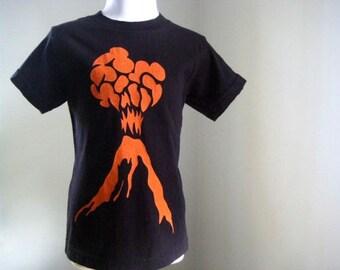 Volcano Kids Organic T Shirt Bright Orange Ink