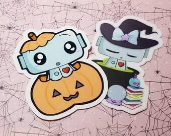 Botkin Sleepy Witch Robot Sticker Set