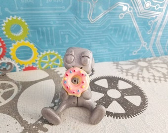 Happy Lil Donut Dude Robot