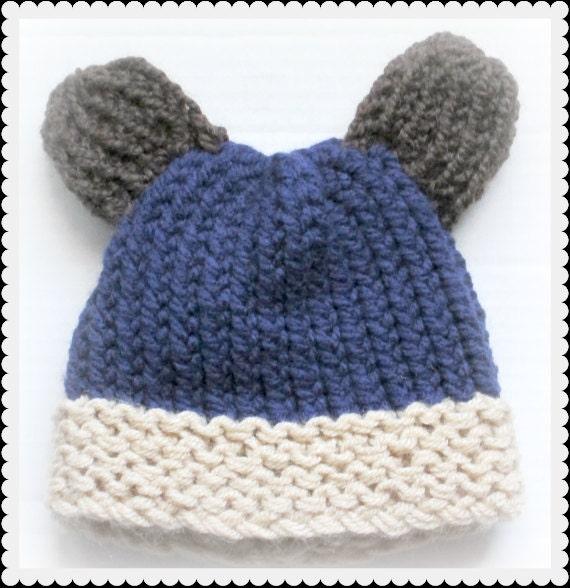 Baby Bear Hat Loom Knit Pattern Etsy