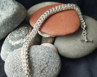Heart on my Wrist 7in Sterling Silver bracelet