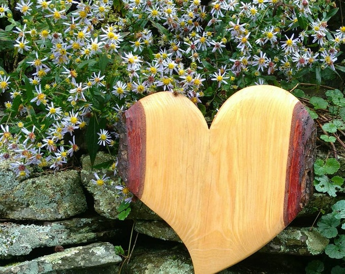 HEART of the HOME Wall Decor Carved in Hemlock Wood, House Warming Gift, Wedding Gift, Anniversary Gift, Rustic Home Decor, Wall Art