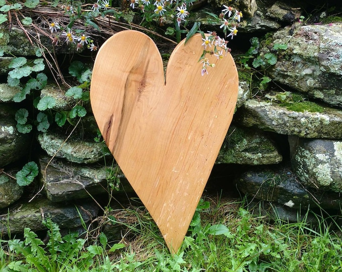 HEART of the HOME Wall Decor Carved in Maple Wood, House Warming Gift, Wedding Gift, Anniversary Gift, Rustic Home Decor, Wall Art