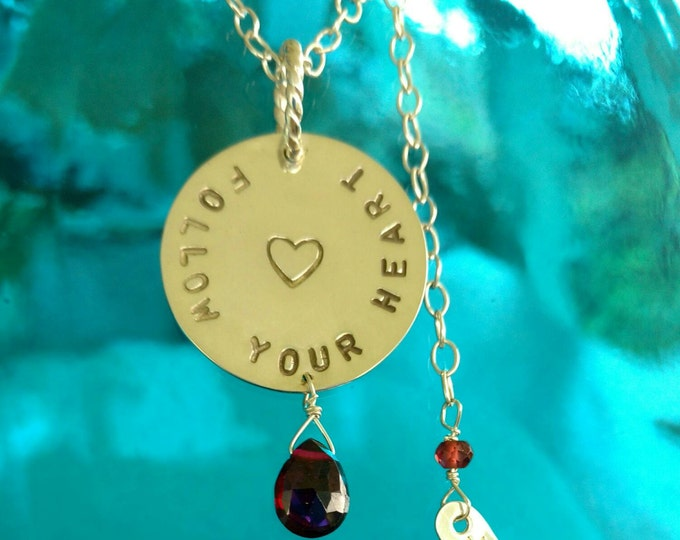 SWEET SOUL Message Necklace, Follow Your HEART in Sterling Silver, Jewelry that Inspires, Inspirational Jewelry, Motivational Jewelry (#018)