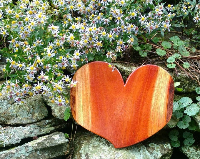 HEART of the HOME Wall Decor Carved in Mahogany Wood, House Warming Gift, Wedding Gift, Anniversary Gift, Rustic Home Decor, Wall Art
