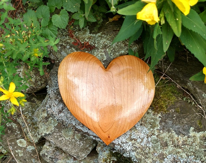 HEART of the HOME Wall Decor Carved in Birch Wood, House Warming Gift, Wedding Gift, Anniversary Gift, Rustic Home Decor, Wall Art