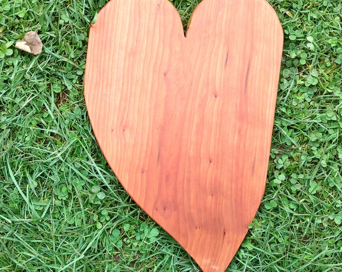 CHERRY WOOD Cutting Board, Heart Shaped Cutting Board in Cherry Wood, Wedding Gift, Kitchen Ware